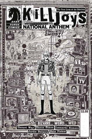 TRUE LIVES FABULOUS KILLJOYS NATIONAL ANTHEM #1 CVR C RENTLE - Packrat Comics