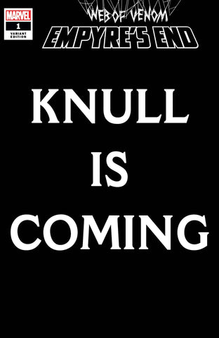 WEB OF VENOM EMPYRES END #1 KNULL IS COMING VAR - Packrat Comics