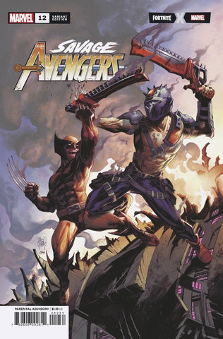 SAVAGE AVENGERS #12 KUBERT FORTNITE VAR - Packrat Comics