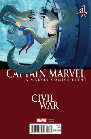CAPTAIN MARVEL #4 CAMPION CIVIL WAR VAR