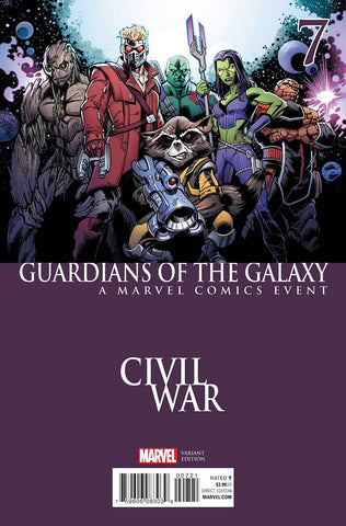 GUARDIANS OF GALAXY #7 BAGLEY CIVIL WAR VAR