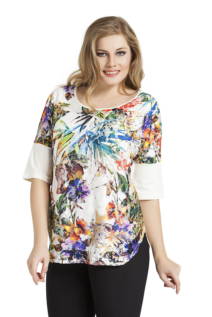 Tropical Collage Top