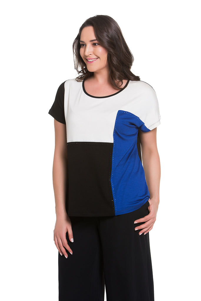 Composition Color Block Top