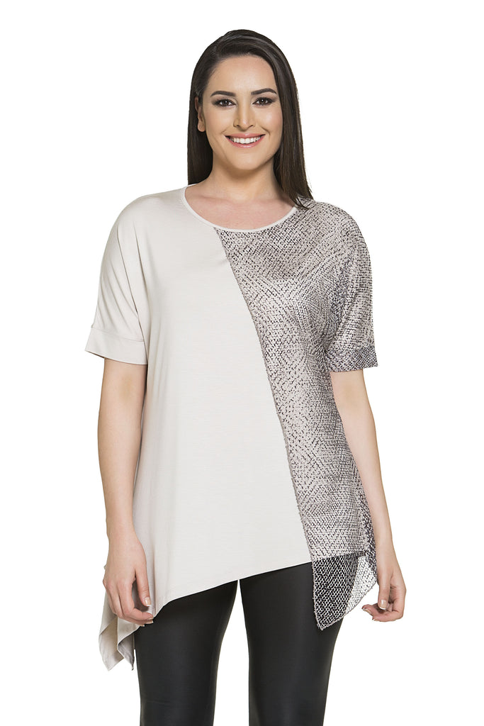 Slanted Sophistication Tunic