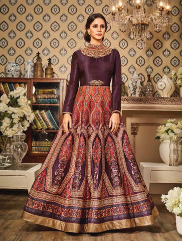 Brown & Copper German Silk Embroidered Suit