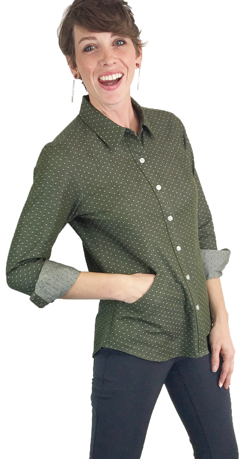women's utility shirt with pockets
