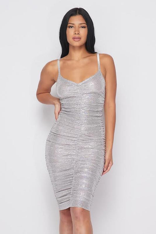 Hologram V Neck Dress
