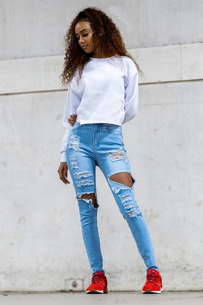 Fleece Long Sleeve Crop Sweatshirt