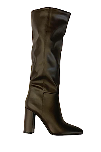 Over The Knee Solid Pointed Toe Boot