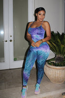 Tie Dye Cross Strap Jumpsuit