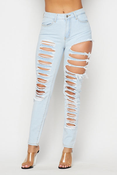Destroyed Large Hole Jean