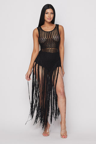 Fringe Crochet Dress