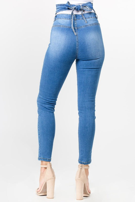 High Rise Tie Back Jean