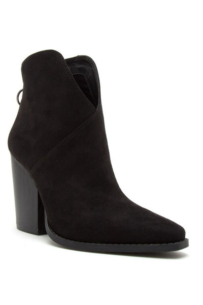 Pointy Thick Heel Bootie