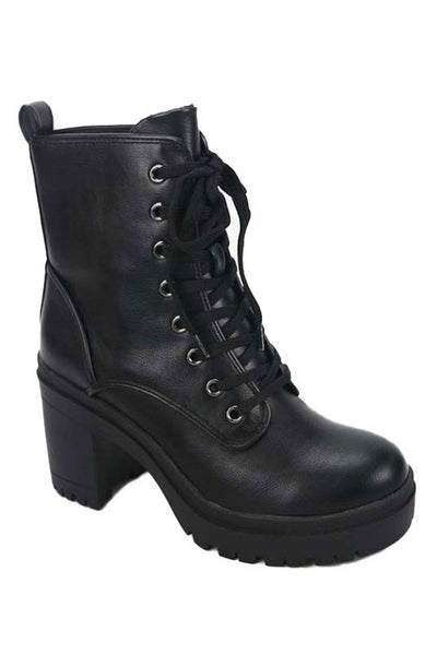 Lace Up Platform Bootie