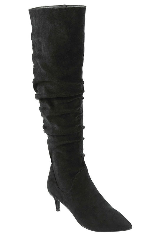 Scrunched Boot with Heel