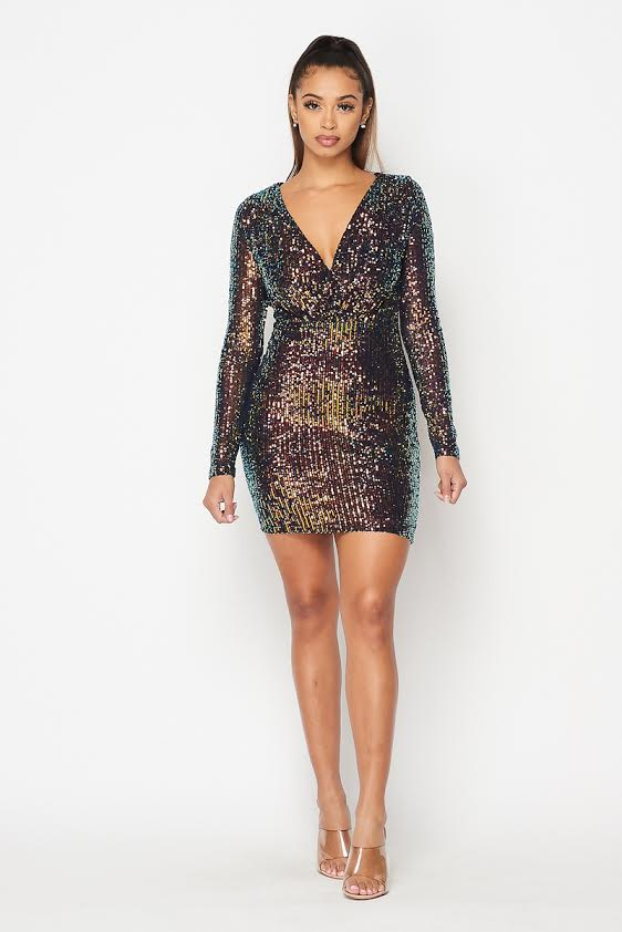 Party Starter Sequin Dress