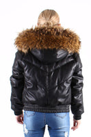 Padded Jacket with Fox Fur