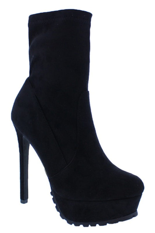 Bootie with Thick Heel