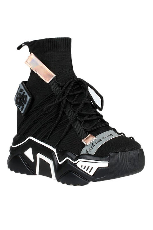 Lace Up Wedge Sneaker