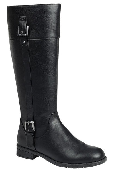 Tall Rider Boot with Buckle Accent