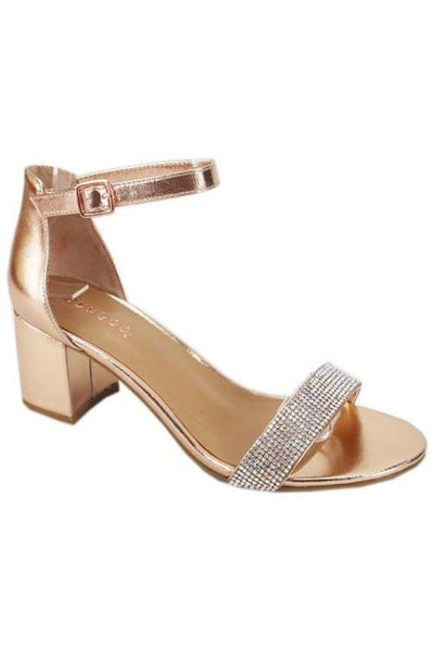 One Band Closed Countered with Ankle Strap Heel