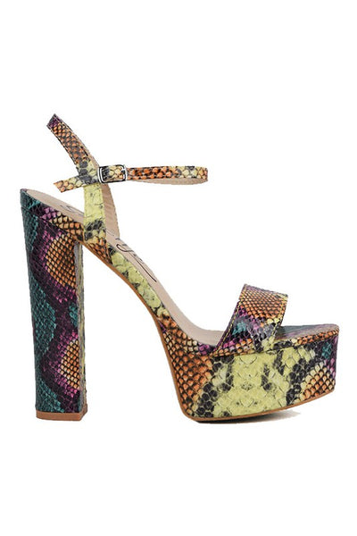 Snake Platform with Thick Heel