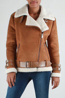 Biker Jacket with Fur