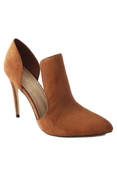 Cut Out Suede Heel