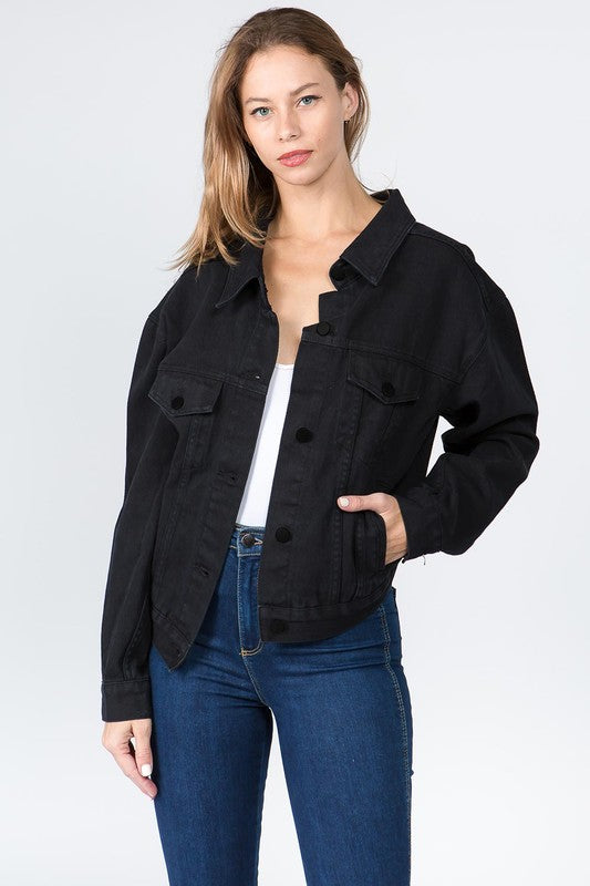 High Back Jean Jacket