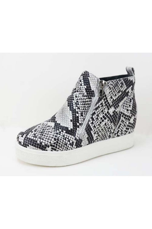 Snakeskin Hidden Wedge Sneaker
