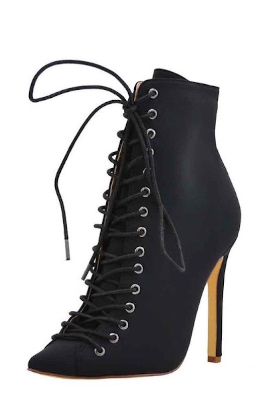 Lace me Up Pointed Heel