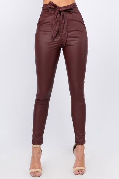 Faux Leather High Waist Skinny Jean