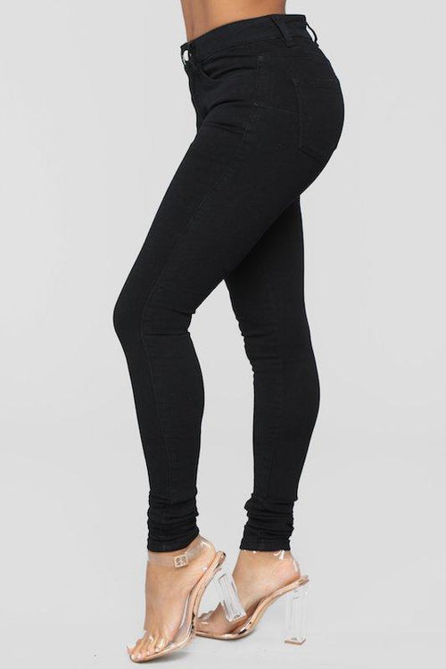 Black High Rise Skinny Fit Jean