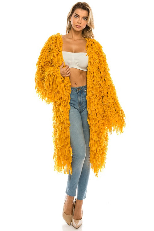 Knitted Fringe Cardigan