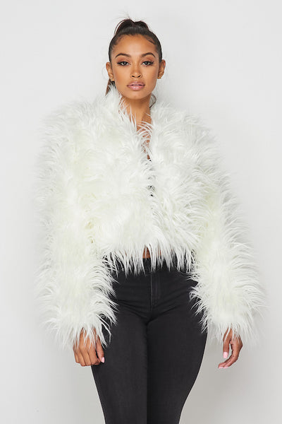 Faux Shaggy Fur Jacket
