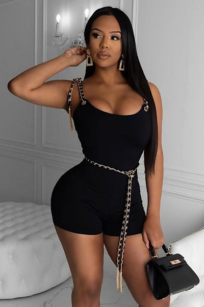 Chain Wrap Romper