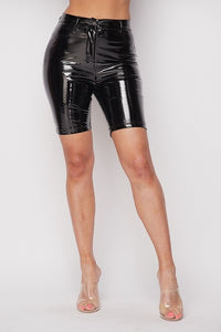 Latex Biker Shorts