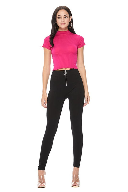 Ring Zipper Pull Front Legging