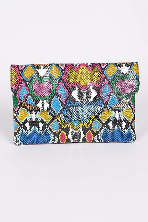 Colorful Snake Clutch