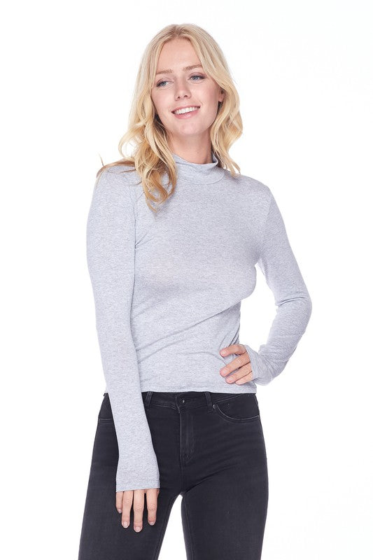 Mock Neck Long Sleeve Top
