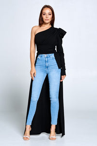 Top with Flowing Drape