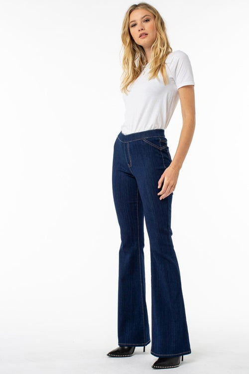 Pull On Bell Bottom Jeans