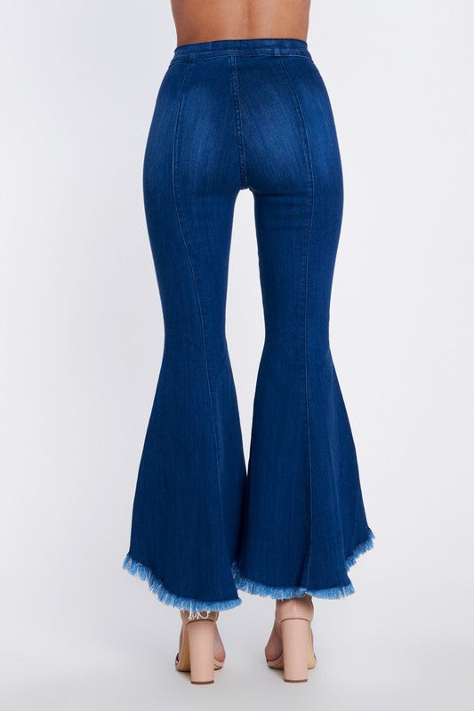 Bell Bottom High-Low Flare Jean