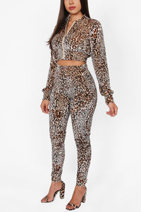 Leopard Jogging Suit