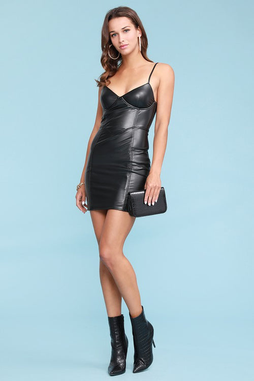 PU Bodycon Dress