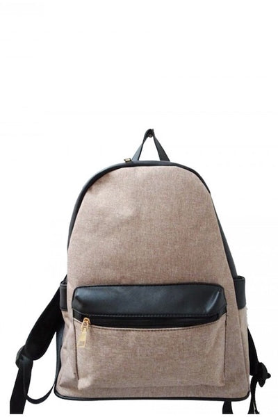 Gold Metal Accent Backpack