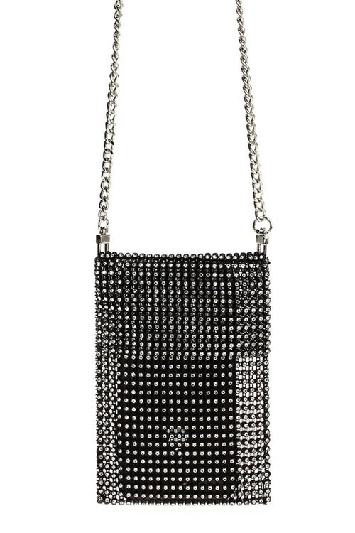 Small Rhinestone Cellphone Case Messenger Bag