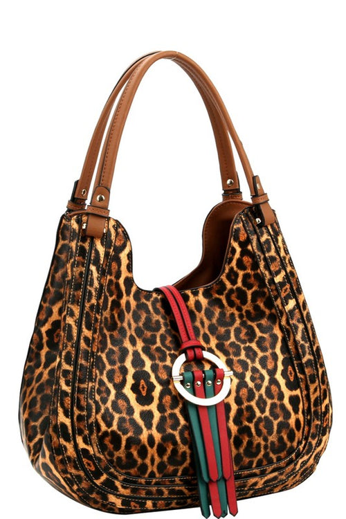 Striped Ring Hobo Bag