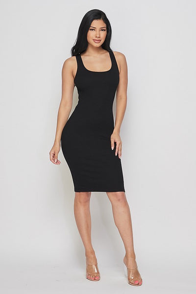 Sleeveless Ribbed Dress